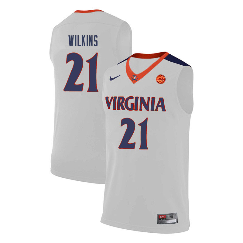 Men Virginia Cavaliers #21 Isaiah Wilkins College Basketball Jerseys-White